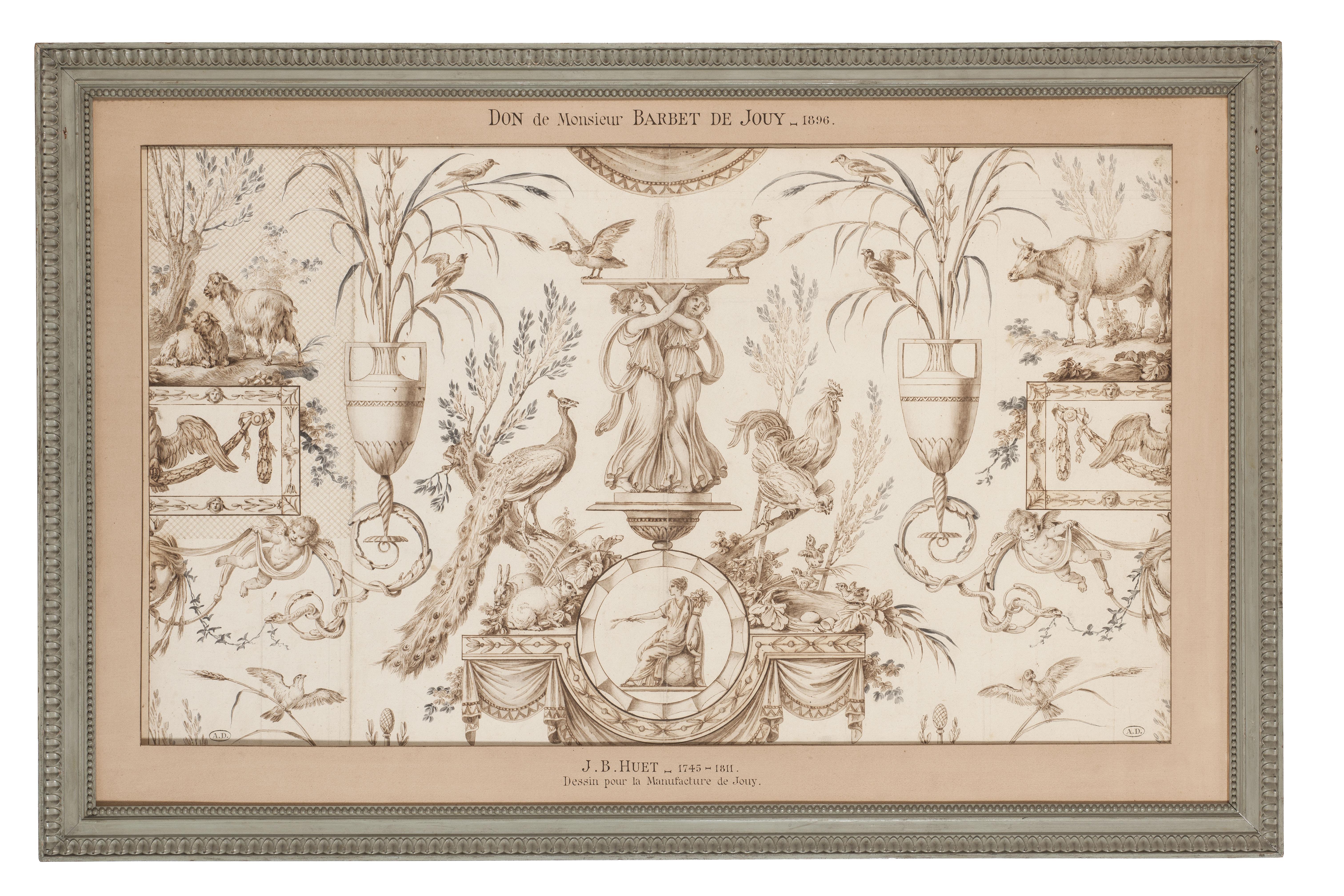 model for a toile de Jouy, Escarpolette, grisaille, © Les Arts décoratifs, Paris/Jean Tholance