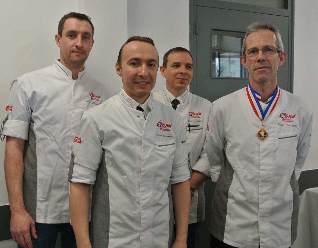 Meilleur ouvrier de France Xavier Carvaignac and his team