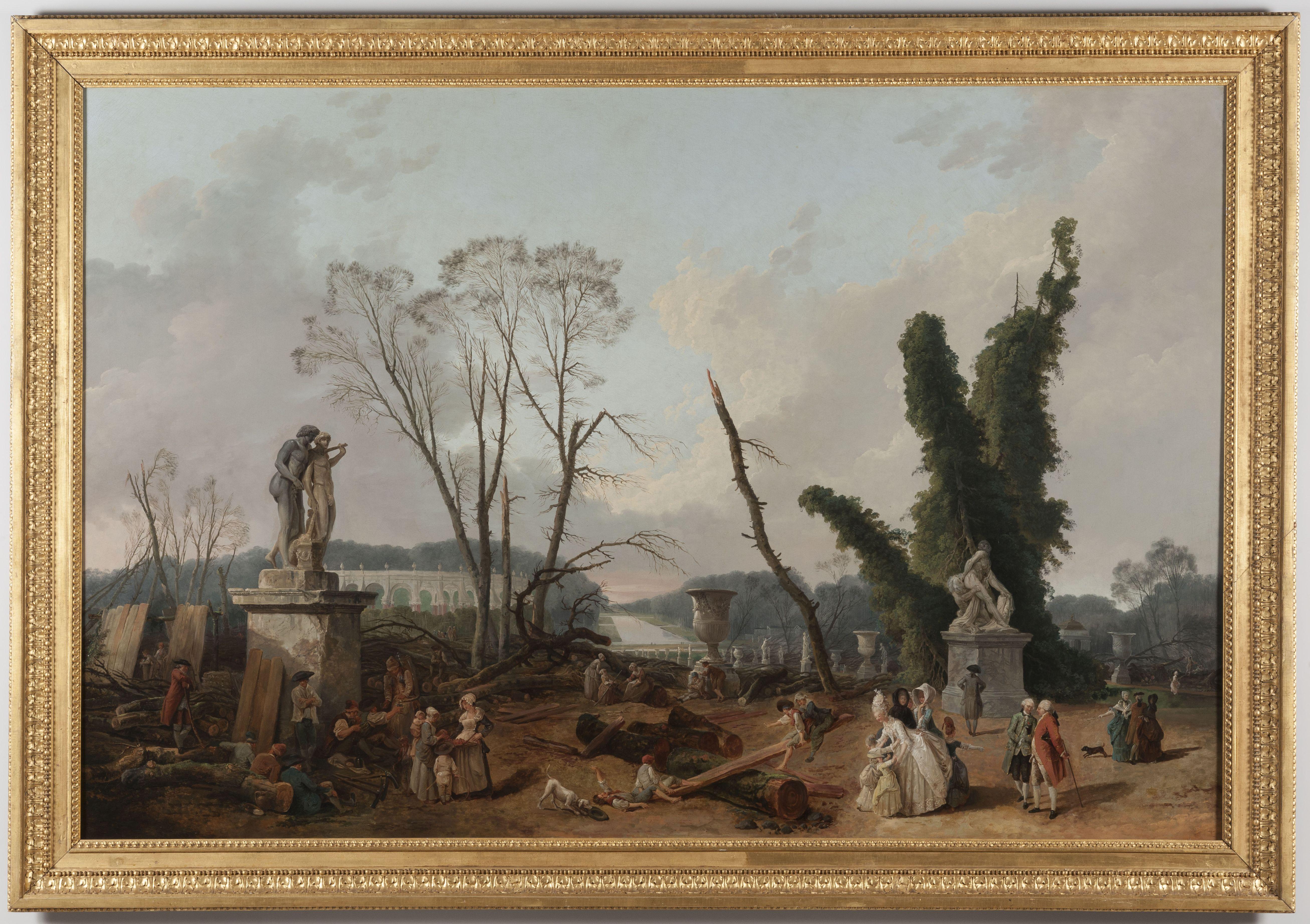 Robert Hubert (1733-1808). Versailles, châteaux de Versailles et de Trianon. MV774.