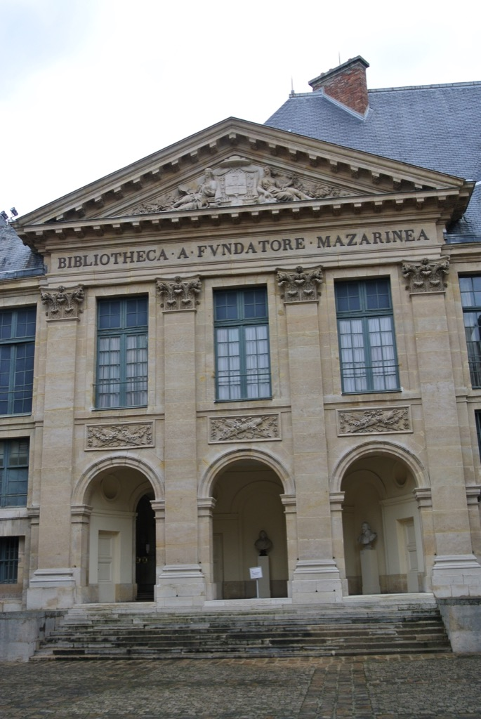 The beautiful architecture of Le Vau's academy built in 1635