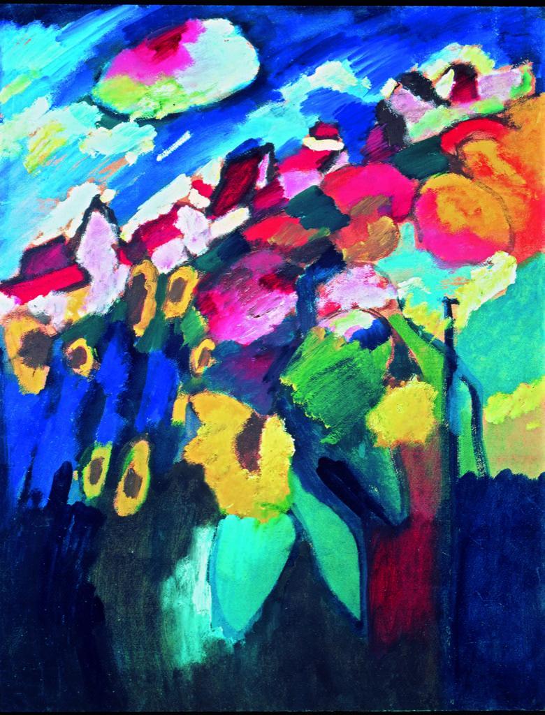 Murnau the Garden II, Wassily Kandinsky, 1910, Merzbacher Kunstiftung