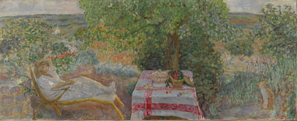 Resting in the garden, by Pierre Bonnard, 1914, the National Museum of Art and Design, Oslo
