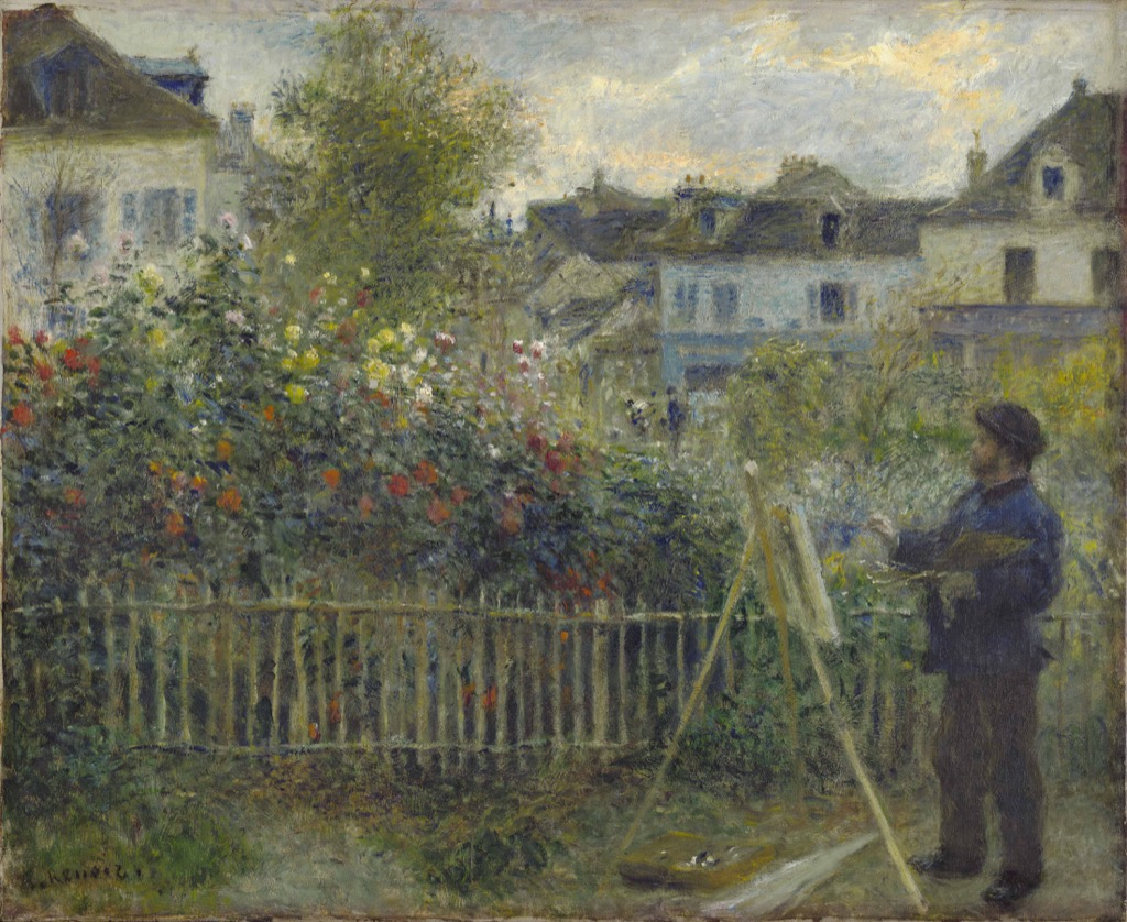 Monet painting in his garden at Argenteuil, AUguste renoir, 1873, Wadsworth Atheneum Museum of Art, Hartford, Ct