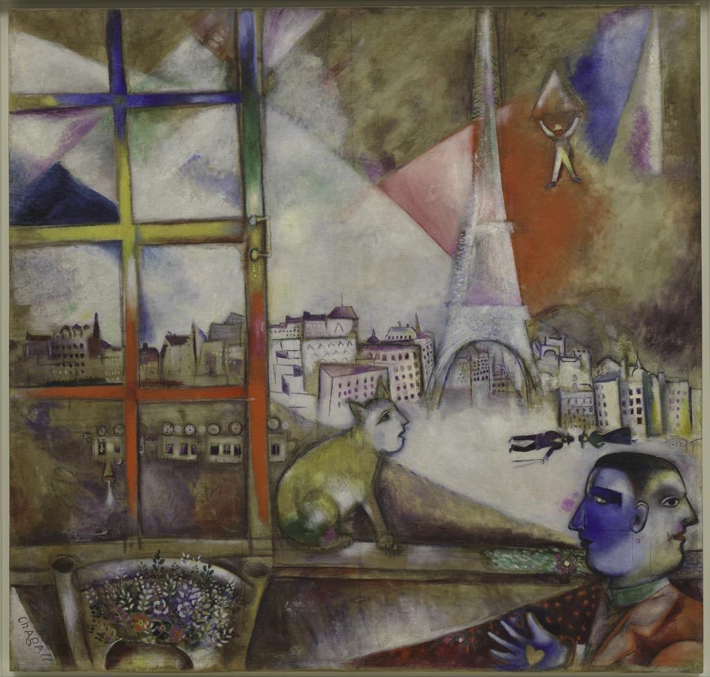 """Marc Chagall, """"Paris par la fenêtre"""", 1913, New York, The Solomon R. Guggenheim Museum © The Solomon R. Guggenheim"""