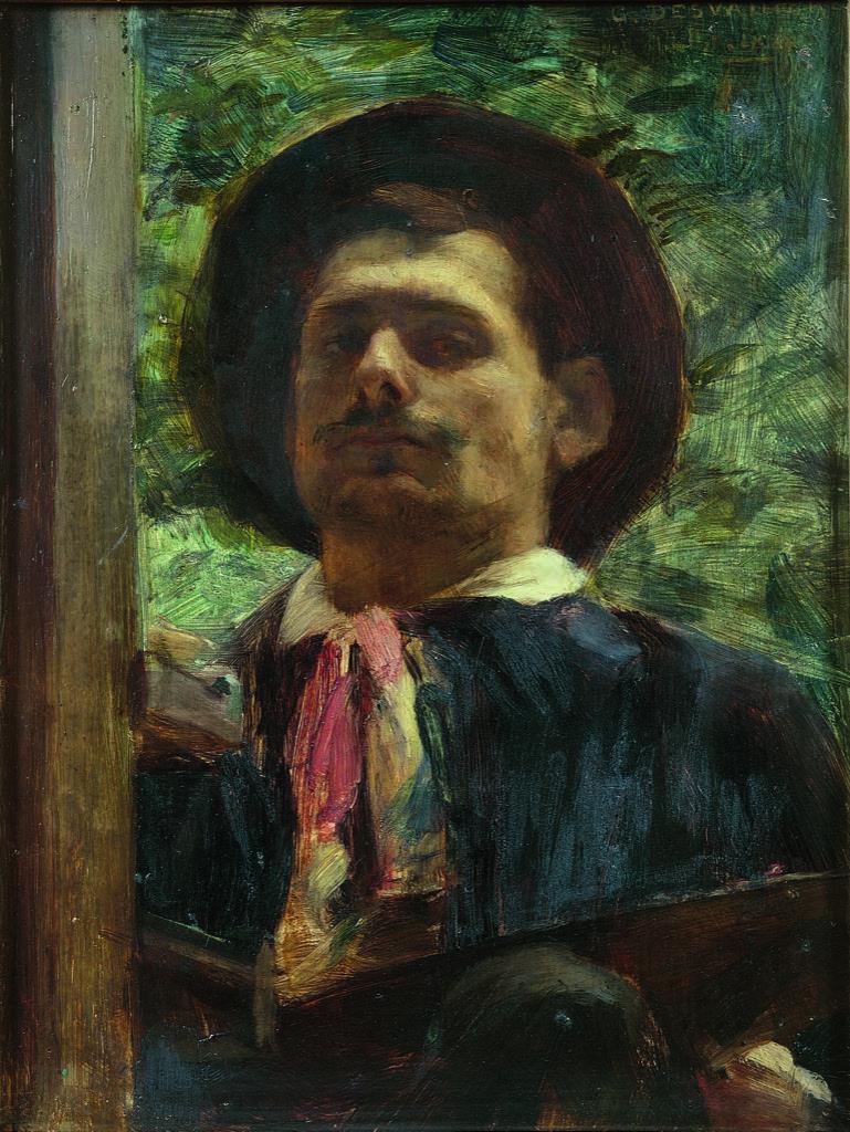 George Desvallières, Autoportrait au foulard rouge