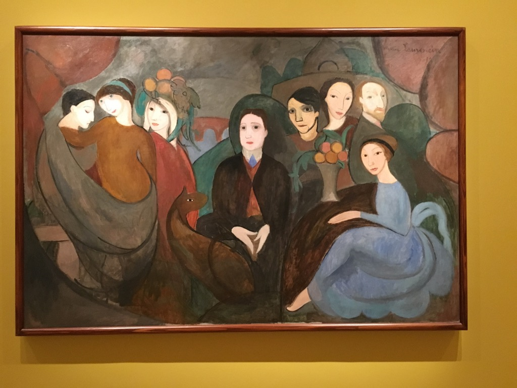 Apollinaire and his friends by Marie Laurencin, 1909