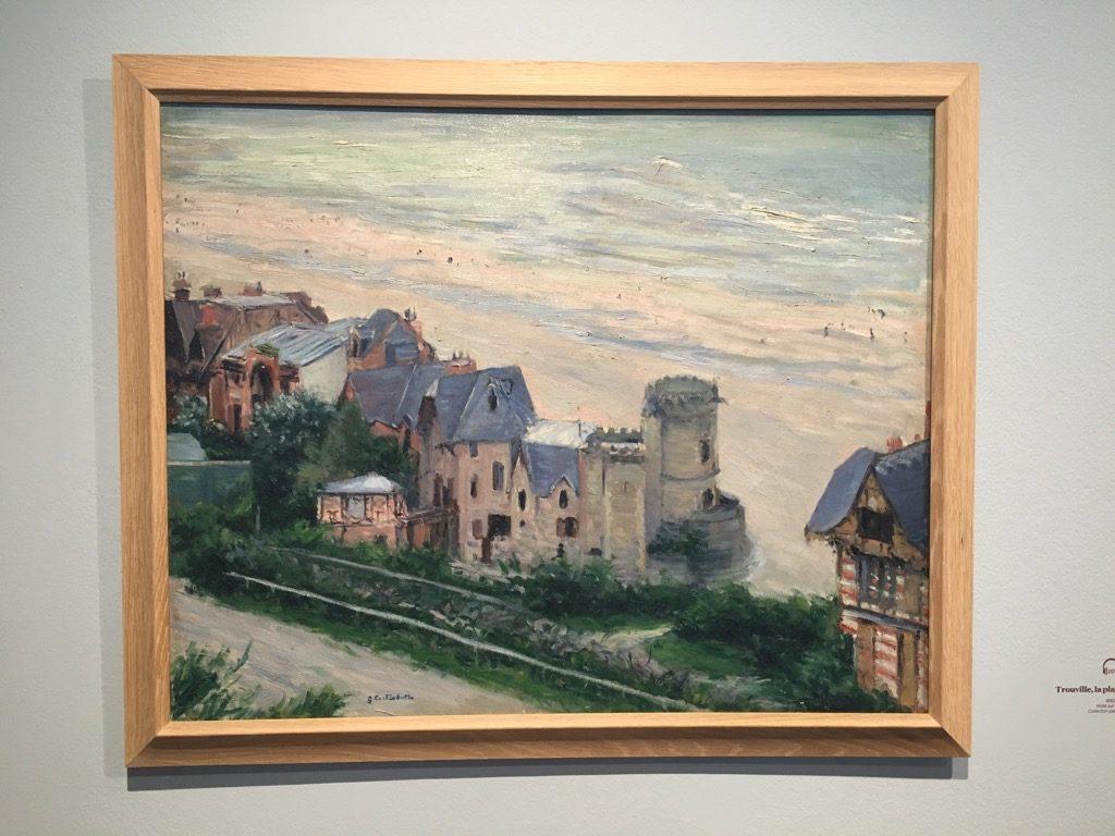 """Caillebotte, """"Trouville, la plage et les villes"""", 1882"""