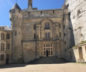 The 18 th century facade created on the medieval castle is stupendous