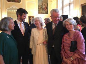 Hélène d'Amécourt,Paul d'Amécourt, Luare de Broglie, Bertrand Chardon and Véronique de Rohan Chabot