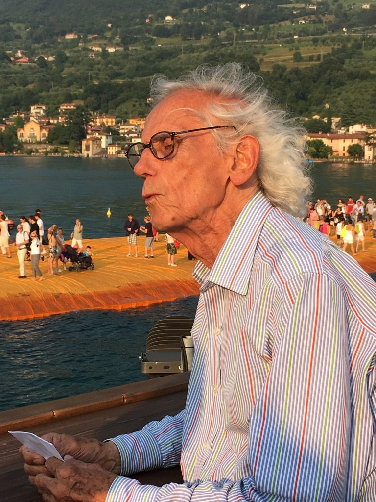 Christo made over a million visitors walk on the Lake Iseo