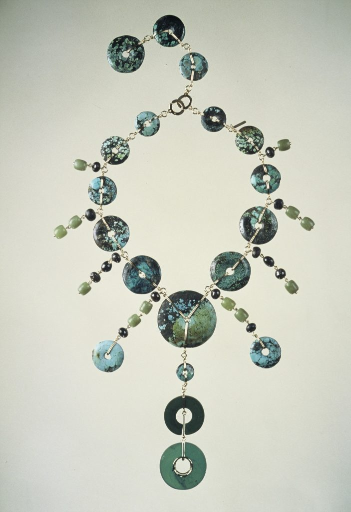 Necklace made with archeological finds for MIRNA MAYERS