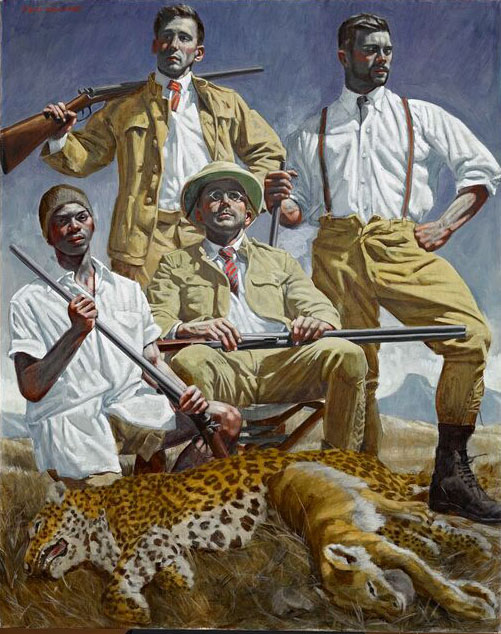 Bruce Sargeant, Four hunters in Narok, 1932-33