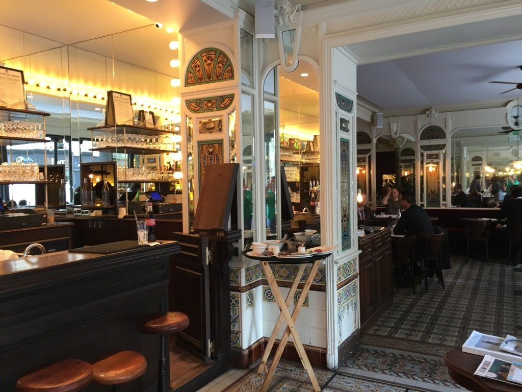 La Belle Epoque has great tiled walls and floors from the 1900's