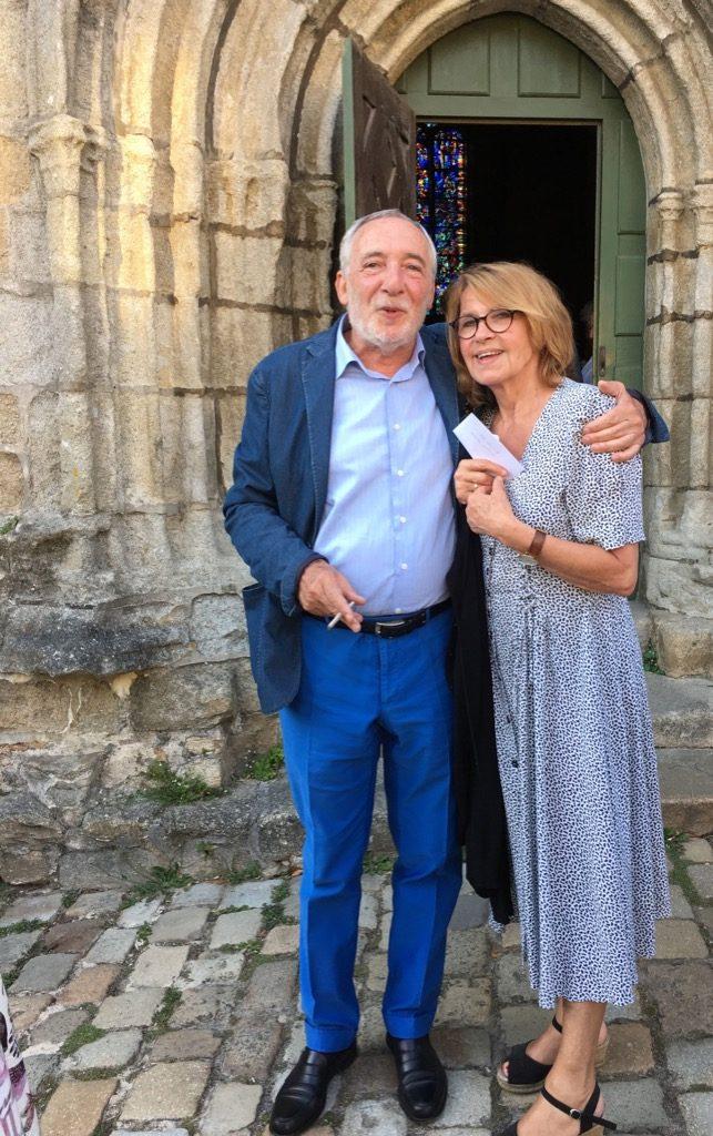 Yves Petit de Voize and film producer Martine de Clermont Tonnerre