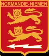 The arms of Normandie Yemen regiment