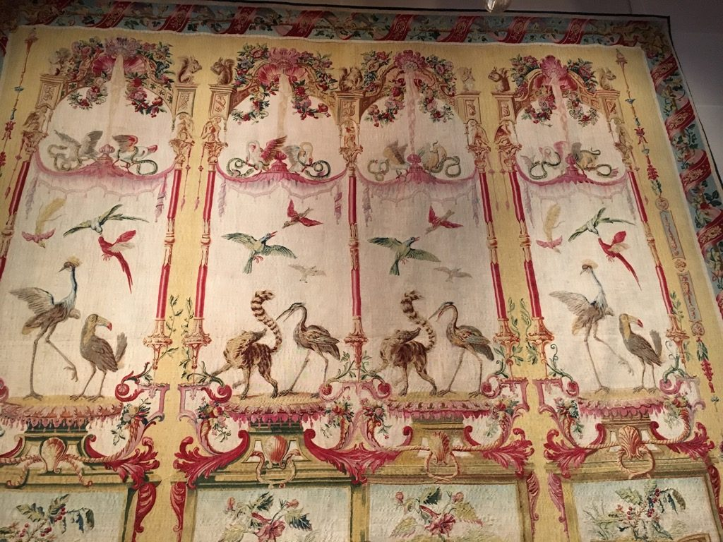 A Gobelins Fables de la Fontaine tapestry came fro the Rothschild's collections
