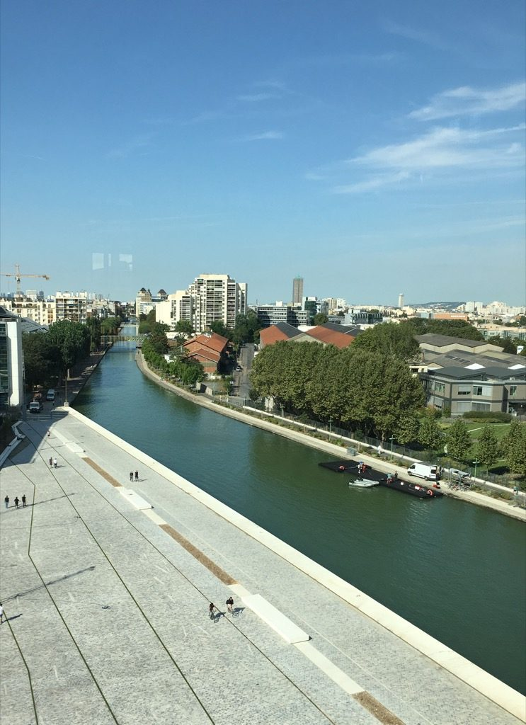 The view from the 5th floor over the Chanel offices
