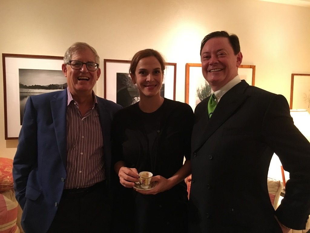 Sophie de Closets with her boys, Jonathan Galassi and Andrew Solomon, both published in French by Fayard