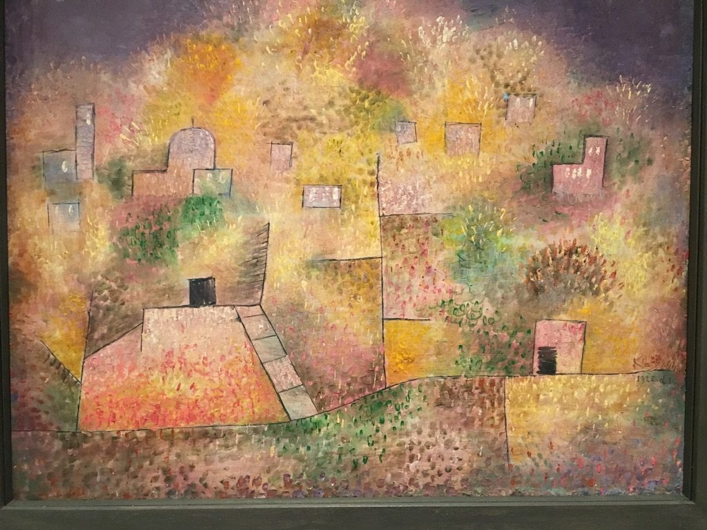 """Oriental pleasure garden"", 1925 by Paul Klee at the Met Breuer"