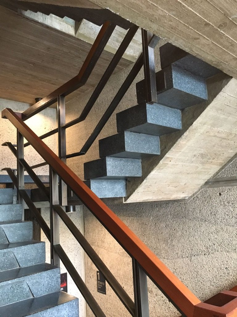 The staircase designer by Breuer at the Met Breuer