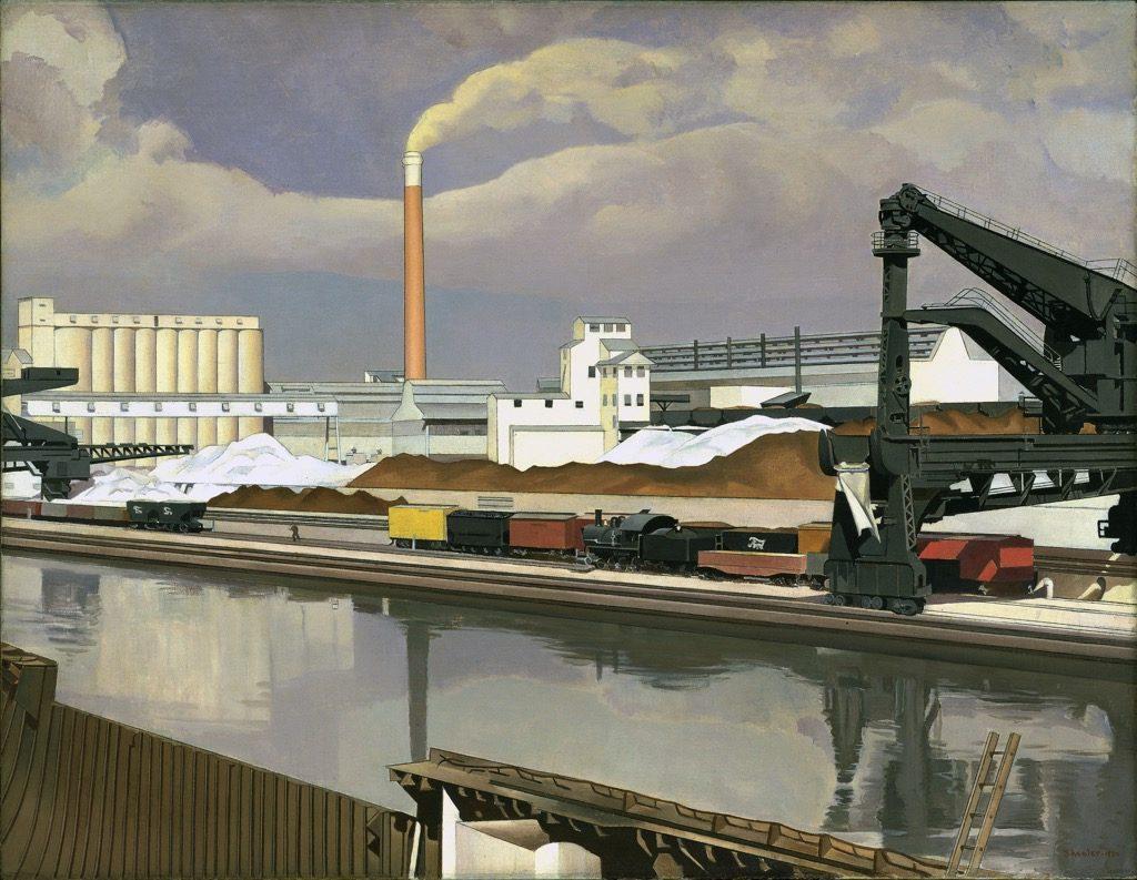 Charles Sheeler, American Landscape, 1930. New York, Museum of Modern Art (MoMA)