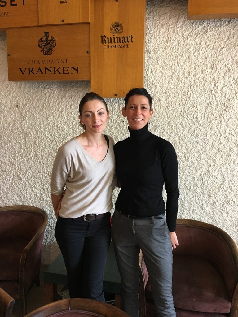 Cristina Finot and Katia run the restaurant at the golf club with grace