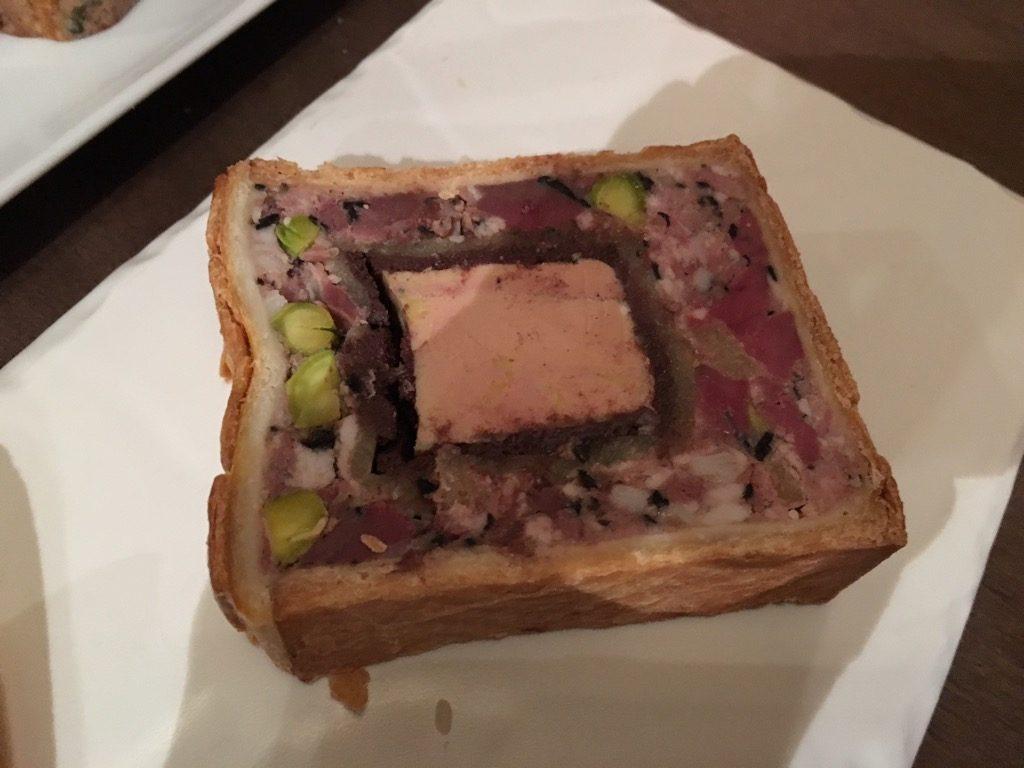 Le pâté de saison with foie gras, black blood and duck