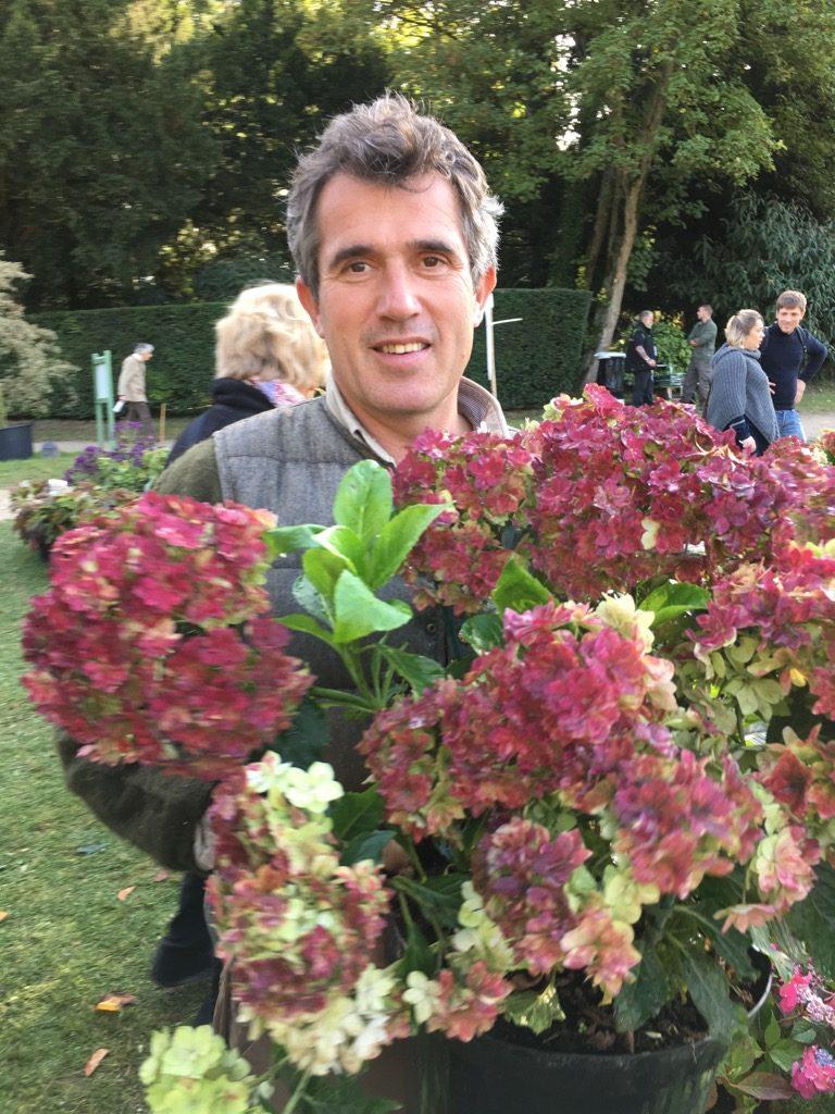 Thierry Ryctel, Hydrangea King at Pépinières de la Thyle