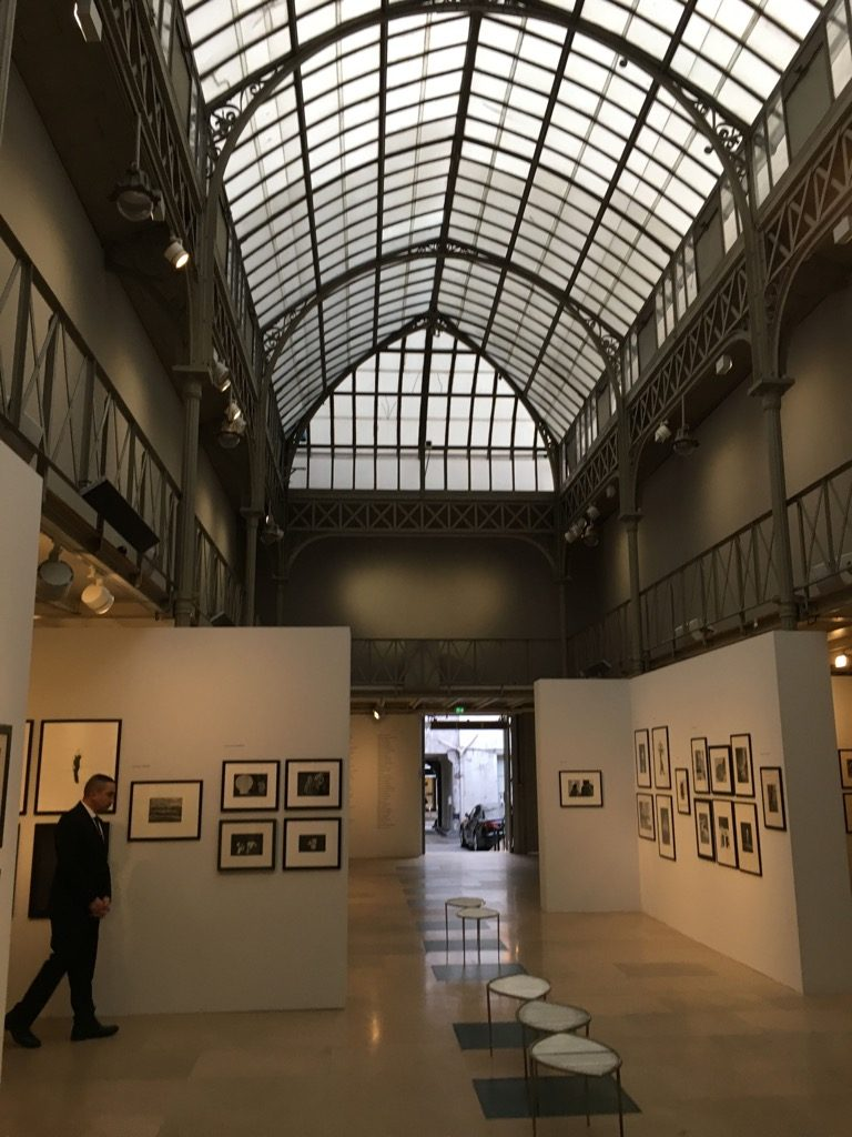 The extraordinary space in the Marais serves for fashion shows and exhibitions