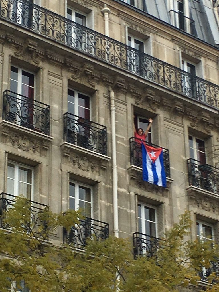 Zoé Valdès, one of the most fervent anti Castro writers in Paris celebrated from her apartment
